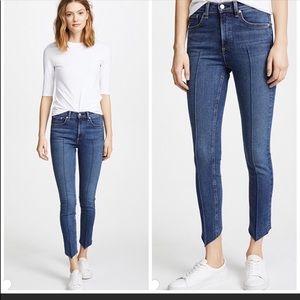 Rag & Bone High Rise Ankle Skinny Jeans Sz 25
